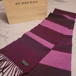Burberry London Extra Long Cashmere Blend Scarf